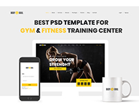 The Best PSD Template for GYM & Fitness Training Center