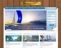 Book My Yacht - web design