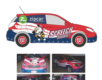 Washington Nationals Car Wrap, Schedule and Poster