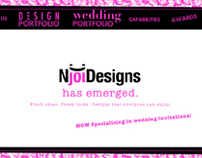 NjoiDesigns Flash Website