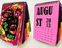 2013 calendar- pop art illustration