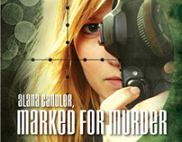 Alana Candler, Marked for Murder - book cover design