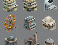 2D buildings and things for game