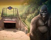 Graffiti Gorilla City Jungle