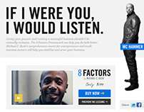 The8Factors: Endorsement Landing Page Design