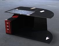 Bureau Noir Et Rouge