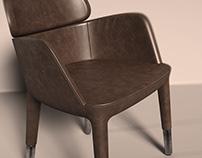 Ester Arm Chair Rendering