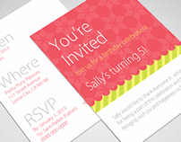 Birthday Invitation for Print