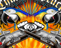 T-Shirt Design for Motorcycle Rally USA