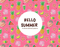 Hello Summer Vector Free Seamless Pattern