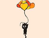 ilustracion gato