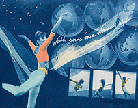 Cyanotypes: Dancers and Aerialists