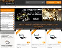 Technikos pasaulis - e-shop for computer hardware