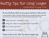 Infographic - Healthy Tips for Living Longer