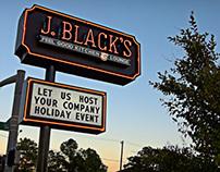 Sign Design - J.BLACK'S