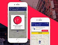 Food Delivery Logistics Mobile App