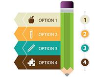 Vector design elements for education.