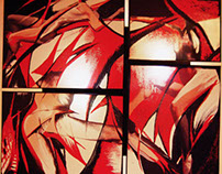 Ambient light, print on plexiglass 150x135cm