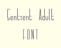 Sentient Adult Font