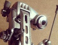 Upcycled bikebot /// Name: Cyclops V.1