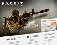 Landing page for Faceit