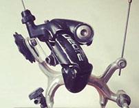 Upcycled bikebot /// Name: Cyclops V.2
