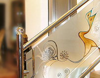 Stairways* on Stained Glass* - Glass Painting*