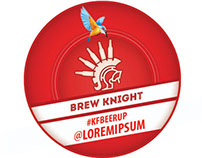 Badge/Icon Design Kingfisher BeerUp