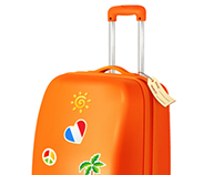 Traveller's suitcase, vector illustration