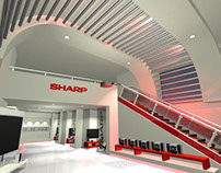 Sharp showroom rendering proposal