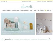 Logo and Branding Plumeti baby concept store
