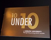 10 Under 10 Logo design and Brochure