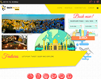BackpackerPanda web interface design