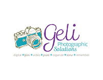 Geli Bloomquist Photographic Solutions Logo Design
