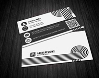 Black & White Creative Business Card Template