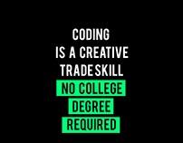 Coding is a creative Trade Skill...