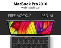 Free PSD & AI mockup MacBook Pro 2016