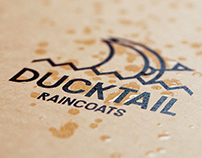 Ducktail Raincoats. Logo & Brand Identity