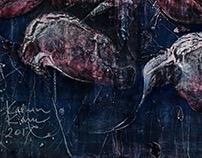 Linnud / Birds, 130 x 150 cm, on canvas, 2017