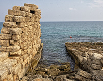 Ruines ancient port of egnazia in Apulia