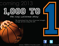 1,000 to 1 Pre Production Marketing Graphics