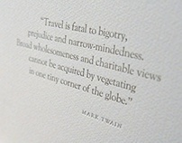 Letterpress Printed Mark Twain Broadside