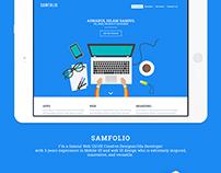 Personal web portfolio design