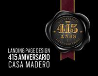 Casa Madero 415 Aniversario Landing Page