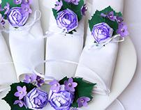 Tinny Flowers Paper Napkin Rings