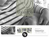 Geboortekaart Valentijn