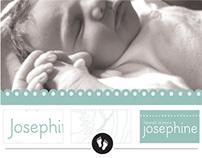 Geboortekaart Josephine