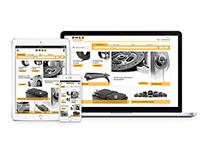 Responsive auto parts website