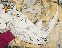 ΡΙΝΟΨΑΡΟΣ street piece in Patra, Greece