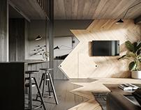 Haus 38 loft interior visualization CGI